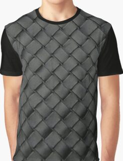 Woven Leather Texture Design Graphic T-Shirt