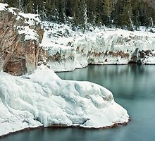 Frozen Lake Shore by April Koehler