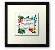 10 commandments Framed Print
