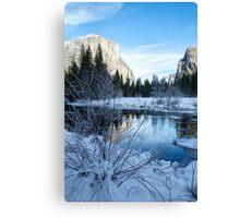 Winter landscape in Yosemite, California Canvas Print