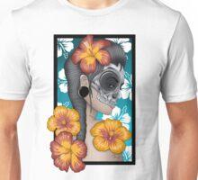 Skull mask hibiscus Unisex T-Shirt