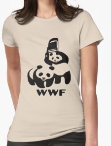 WWE pandas Womens Fitted T-Shirt