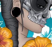 Skull mask hibiscus Sticker