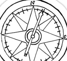 Fireworks Compass Sticker
