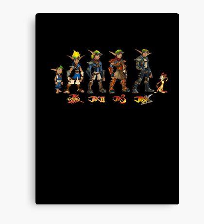 Jak and Daxter Saga - Full Colour Canvas Print