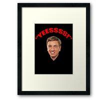 """Marv Albert """"Yes!"""" Framed Print"""