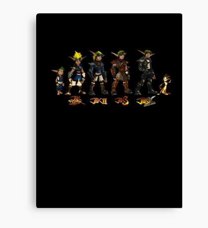 Jak and Daxter Saga - Full Colour Sketched Canvas Print