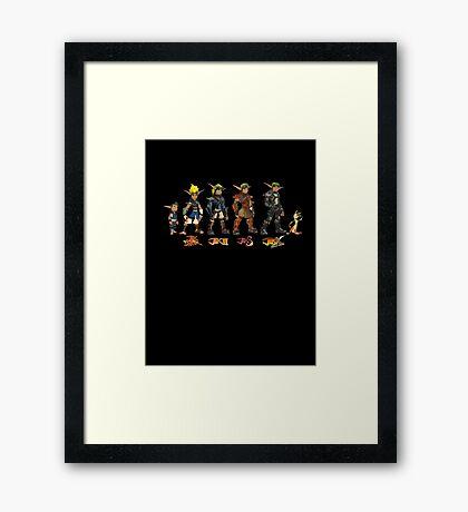 Jak and Daxter Saga - Simplified Colours Framed Print