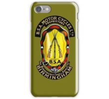 BSA Birmingham Small Arms Motorcycles UK iPhone Case/Skin