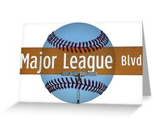 Major League Blvd. Greeting Card