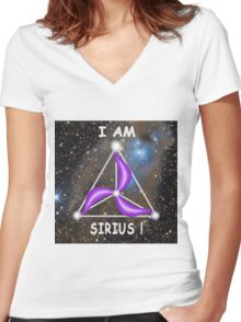 Sirius Symbology - I am Sirius! Women's Fitted V-Neck T-Shirt