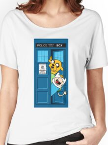 Finn and Jake Police Box Women's Relaxed Fit T-Shirt