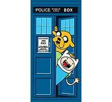 Finn and Jake Police Box Photographic Print