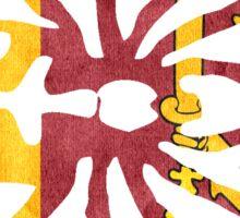 SRI LANKA SPIDER FLAG Sticker