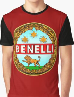 Benelli Vintage motorcycle Italy Graphic T-Shirt