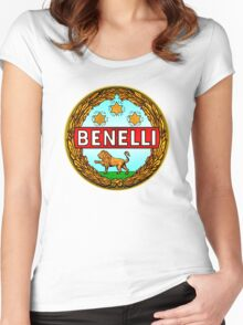 Benelli Vintage motorcycle Italy Women's Fitted Scoop T-Shirt