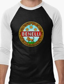 Benelli Vintage motorcycle Italy Men's Baseball ¾ T-Shirt