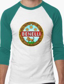 Benelli Vintage motorcycle Italy Men's Baseball ¾ T-Shirt