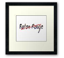 All Lives Matter Baton Rouge Framed Print