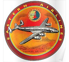 Eastern Airlines Constellation USA VINTAGE AIRLINE SIGN Poster