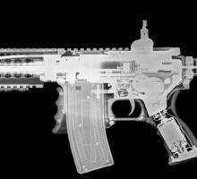 Toy imitation m-16 assault rifle under x-ray  Sticker