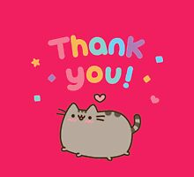 Funny pusheen cat - Thank you  Womens Fitted T-Shirt