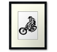 Black and White MTB Framed Print