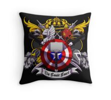 The Comic Court Crest Throw Pillow