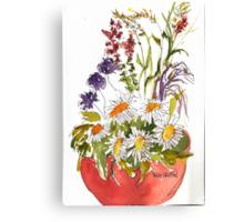 Pot of Flowers Canvas Print