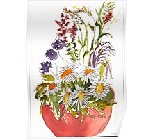 Pot of Flowers Poster