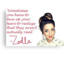 Zoella - FEARS Canvas Print