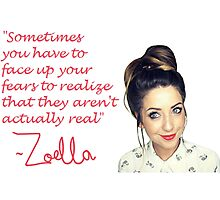 Zoella - FEARS Photographic Print
