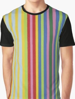 Colorful Retro Stripes Graphic T-Shirt
