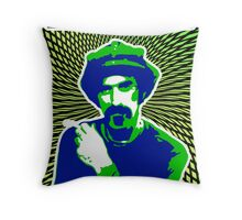 Frank Zappa Blacklight Throw Pillow