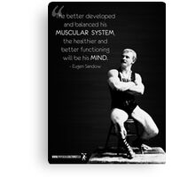 The Muscular System - Eugen Sandow Canvas Print
