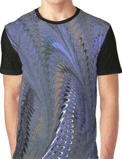 Retro Marbleized Waves Graphic T-Shirt