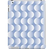 Geometric pattern with circles in serenity iPad Case/Skin