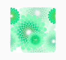 Spiral floral, mint green geometric floral pattern Womens Fitted T-Shirt