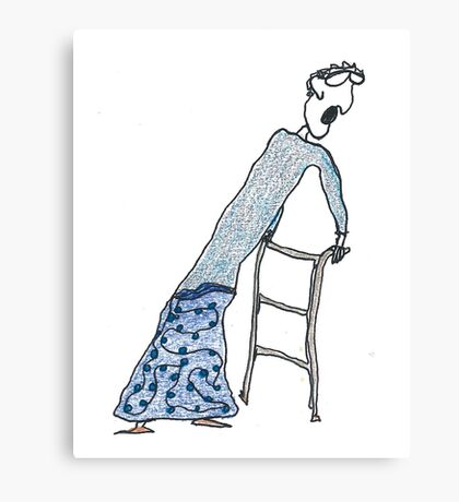 Fragile Frida (one-line #122) Canvas Print