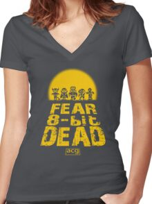Fear the 8-bit dead Women's Fitted V-Neck T-Shirt