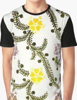 Vintage Floral and Vines Graphic T-Shirt