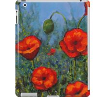 Red Poppies: Original Floral Painting iPad Case/Skin
