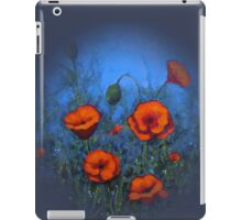 Red Poppies on Blue Background: Original Painting: Art iPad Case/Skin