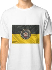 Imperial Crown of Austria over Flag of the Habsburg Monarchy Classic T-Shirt
