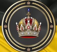 Imperial Crown of Austria over Flag of the Habsburg Monarchy Sticker