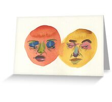 Joined at the Face Greeting Card