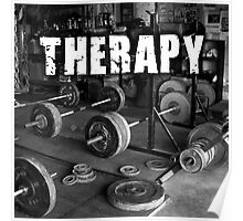 Lifting Is My Therapy Poster