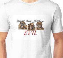 Three Wise Orangutans  Unisex T-Shirt