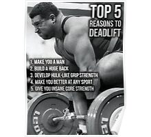 Top 5 Reasons To Deadlift Poster