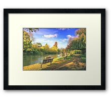 Down By The Riverside in Stratford Framed Print